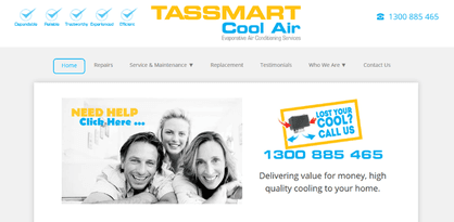 TASSMART Cool Air Website